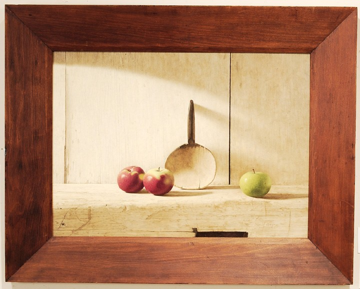 David Brega oil on masonite still life