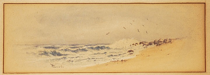 Frank Thurlo watercolor Breaking Surf