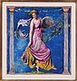 John La Farge watercolor  &  gouache, John la Farge, Click for value