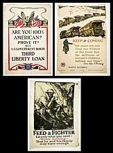 Three WWI US Propaganda Posters