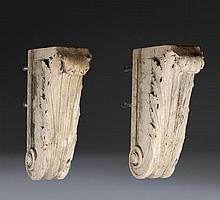 Pair of Marble Corbels