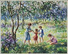Edward Dufner watercolor