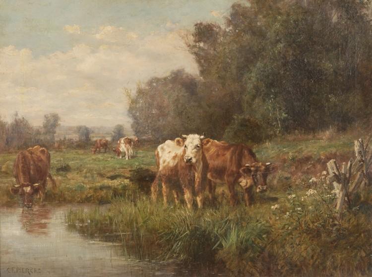 Charles Franklin Pierce oil on canvas