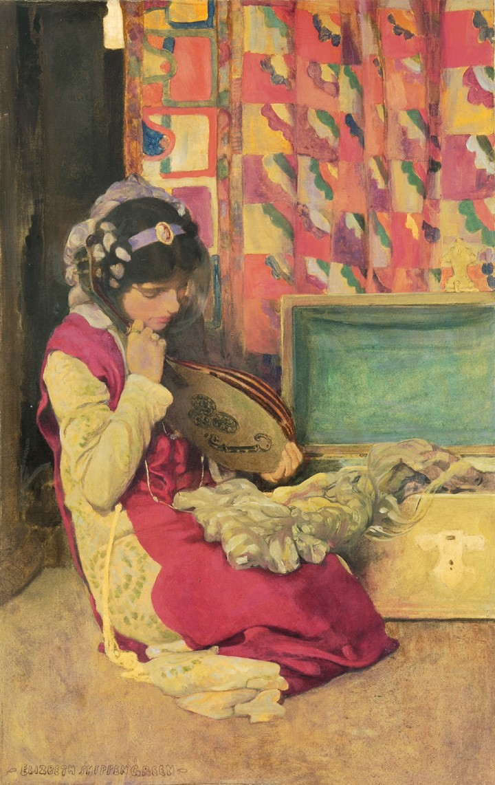 Elizabeth Shippen Green oil on artists board