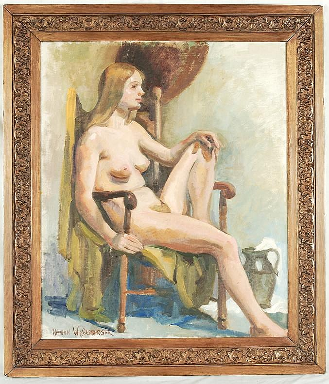 Nathan Wasserberger O/C Seated Nude