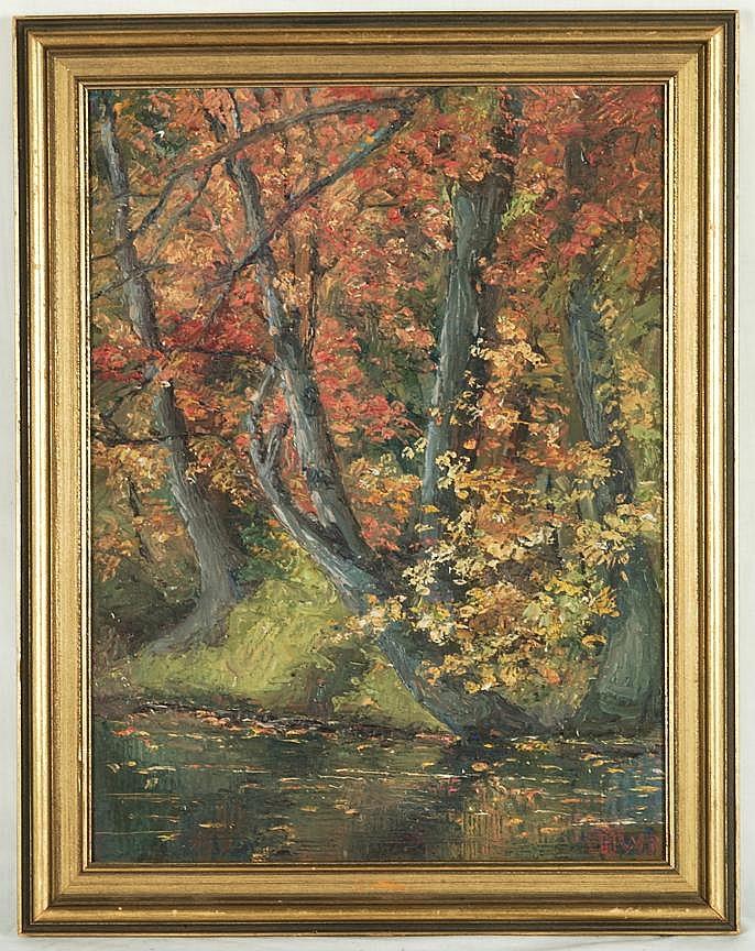 Harold Woodford Pond Attrib. O/B Landscape