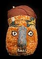 A feathered false head for a mummy bundle