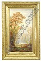 Oil on canvas Autumn landscape, Charles Franklin Pierce, Click for value