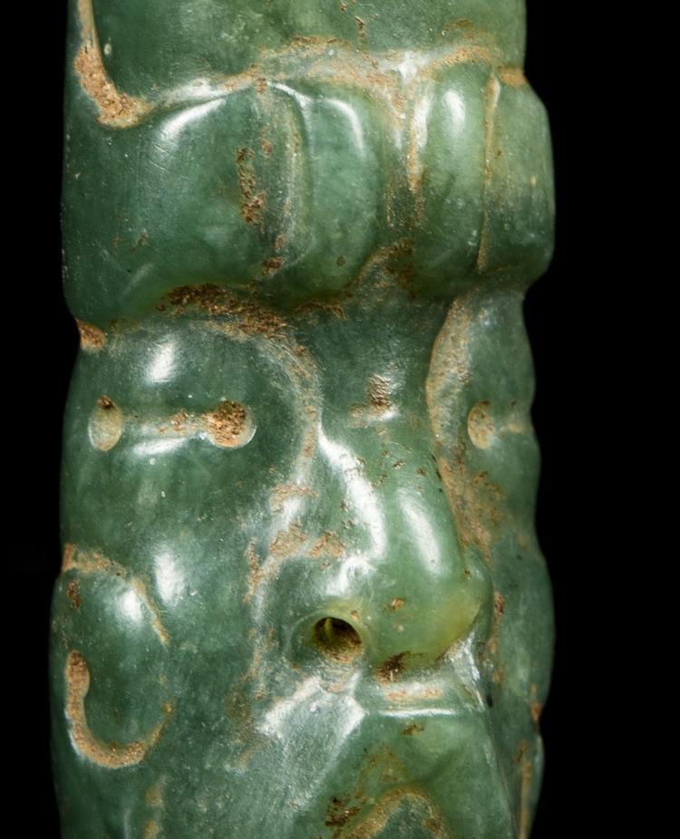 Pre-Columbian Olmec Jade Head / Pendant | #23073968 |Olmec Head Necklace
