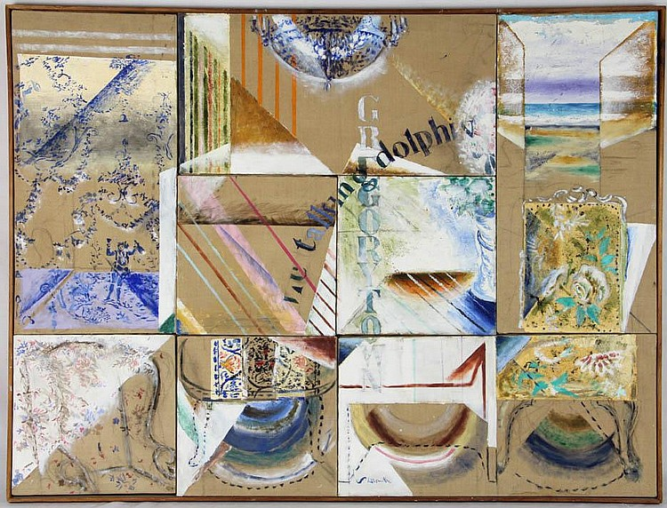 Fanny Hillsmith,  a collage of smaller paintings put together to form a large painting