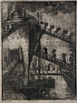 A Wells Peck etching