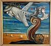 Moshe Leider (b. 1945) Surreal and El Al plane, Milo Manara, $100