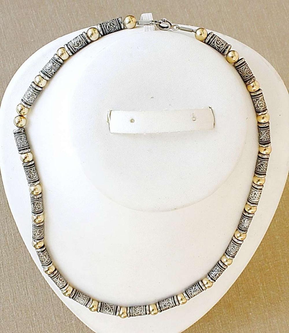 Vintage gilt silver sterling massive necklace, 40gr.