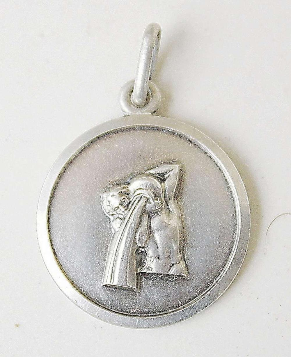 Aquarius / The Water-Bearer vintage silver sterling 925 pendant, signed