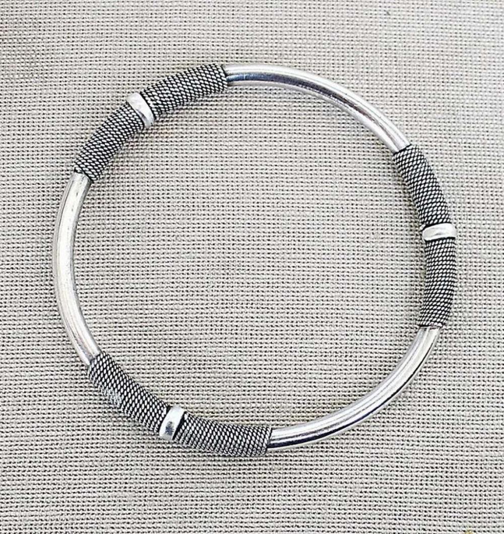 Vintage silver sterling 925 bangle bracelet, 17gr.