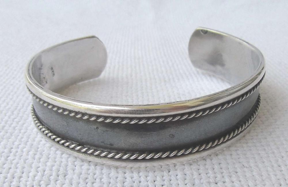 Russian USSR Vintage niello filigree silver sterling 925 cuff  bracelet, 32gr.,