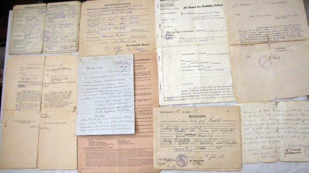 Holocaust. Archive of survived in holocaust Jewish woman 1926-1960s, in German, Czech and Russian.