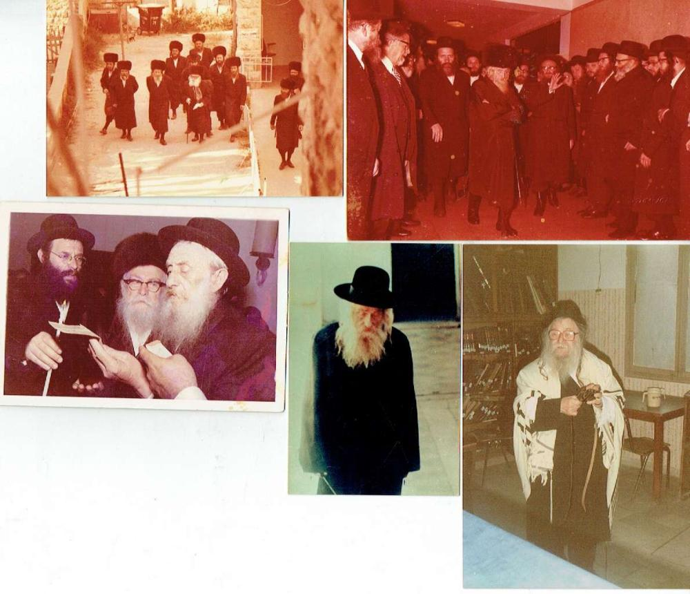 5 Orig. photographs of Rabbis, size of the biggest photo: 11 x 15 cm.