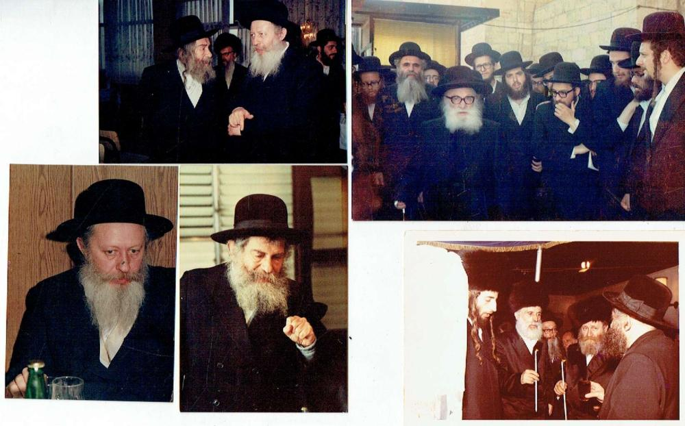 5 Orig. photographs of Rabbis, size of the biggest photo: 10 x 15 cm.