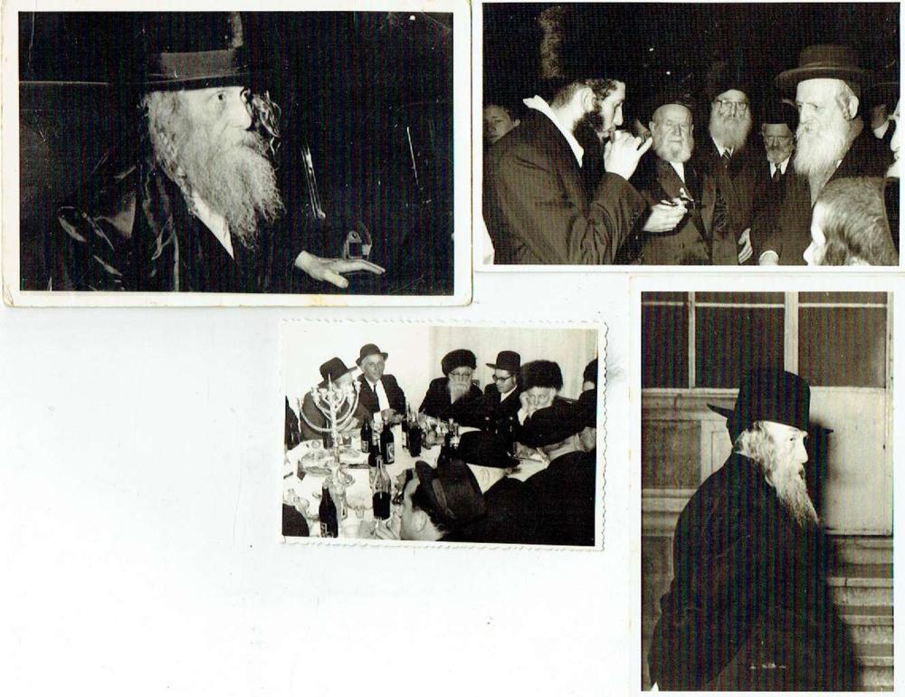 4 Orig. photographs of Rabbis, 1969,  One photo signed