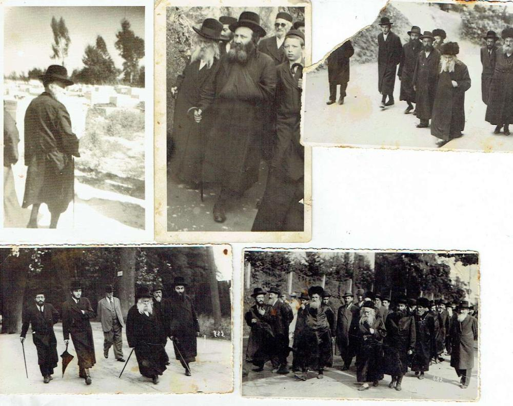 5 Orig. old photographs of Rabbis, PC size.