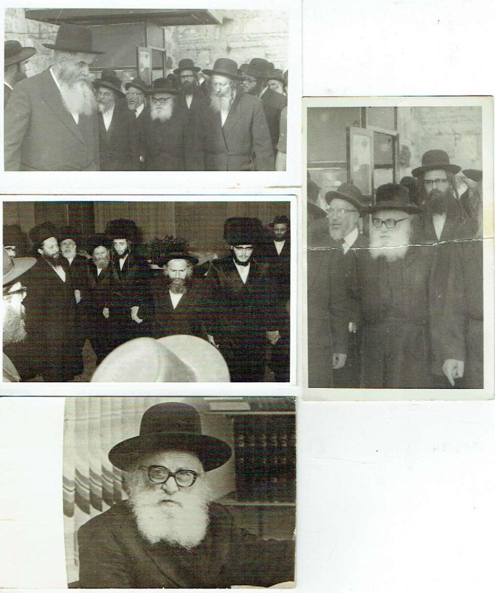 4 Orig. old photographs of Rabbis, PC size