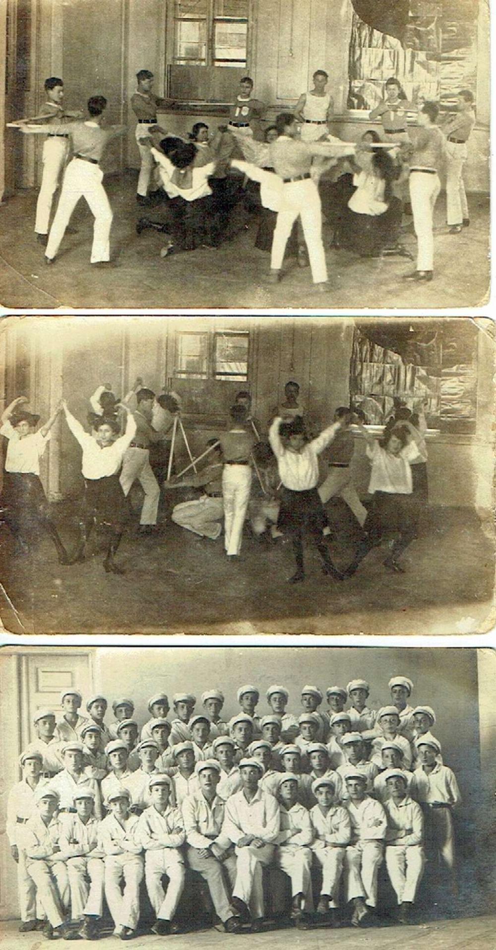 3 photos of Jewish Maccabi Athletes Poland, 1921-22, PC size.