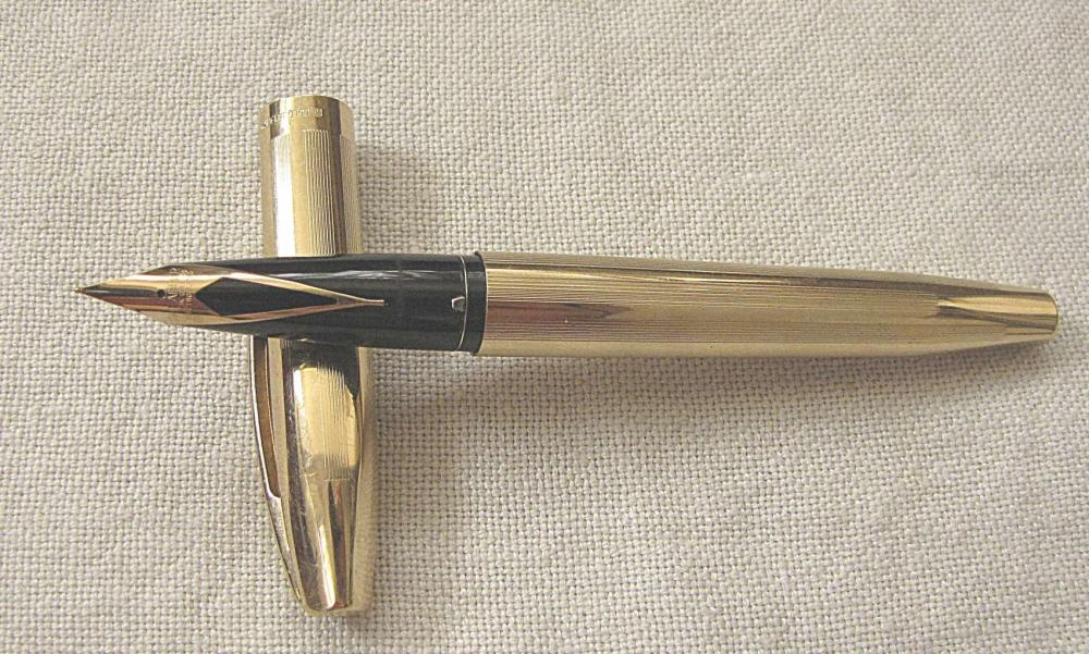 SHEAFFER IMPERIAL 23k Gold Electroplated Crown Mark Fountain Pen