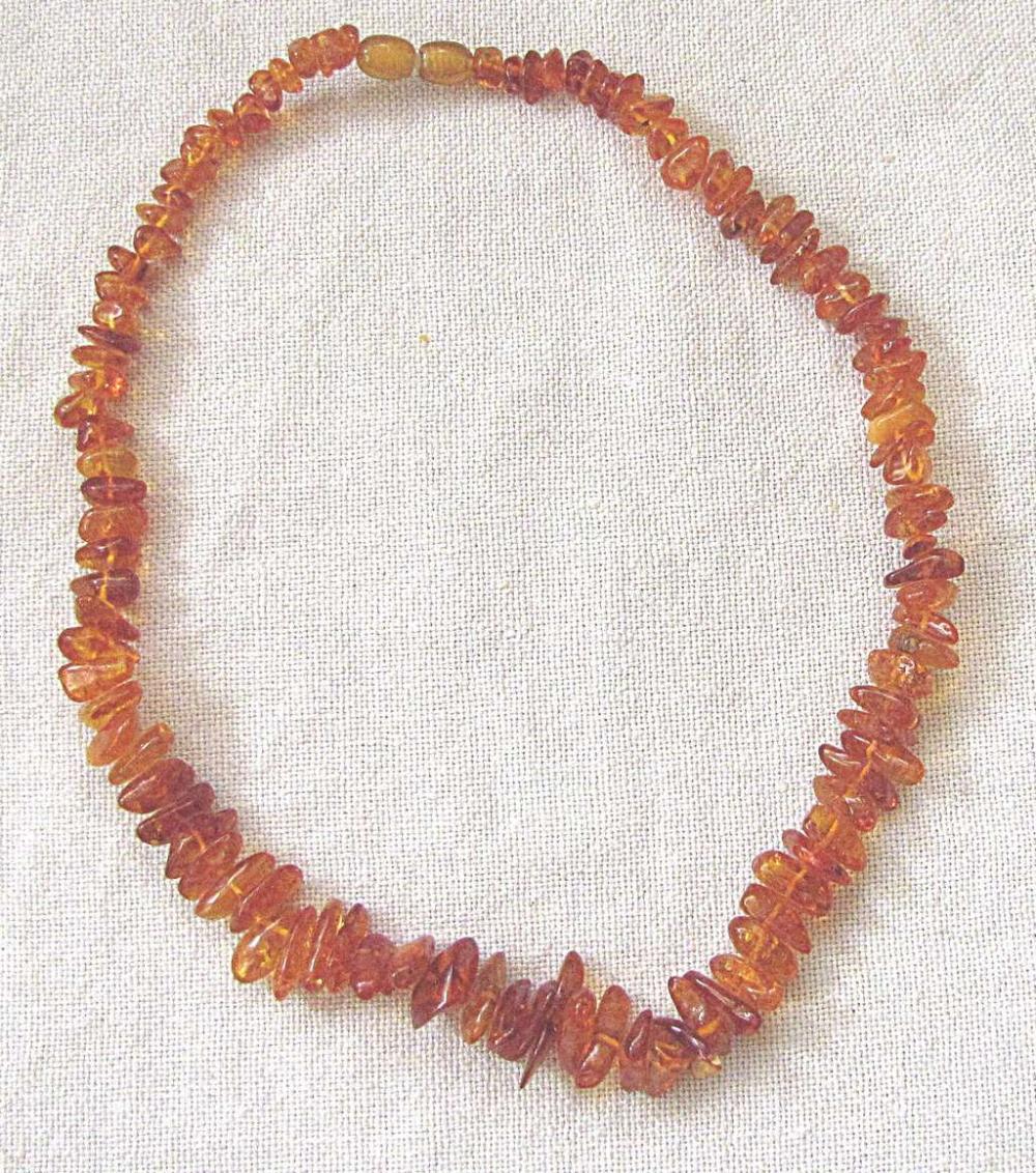 Russian soviet vintage honey amber graduated necklace, 33gr.
