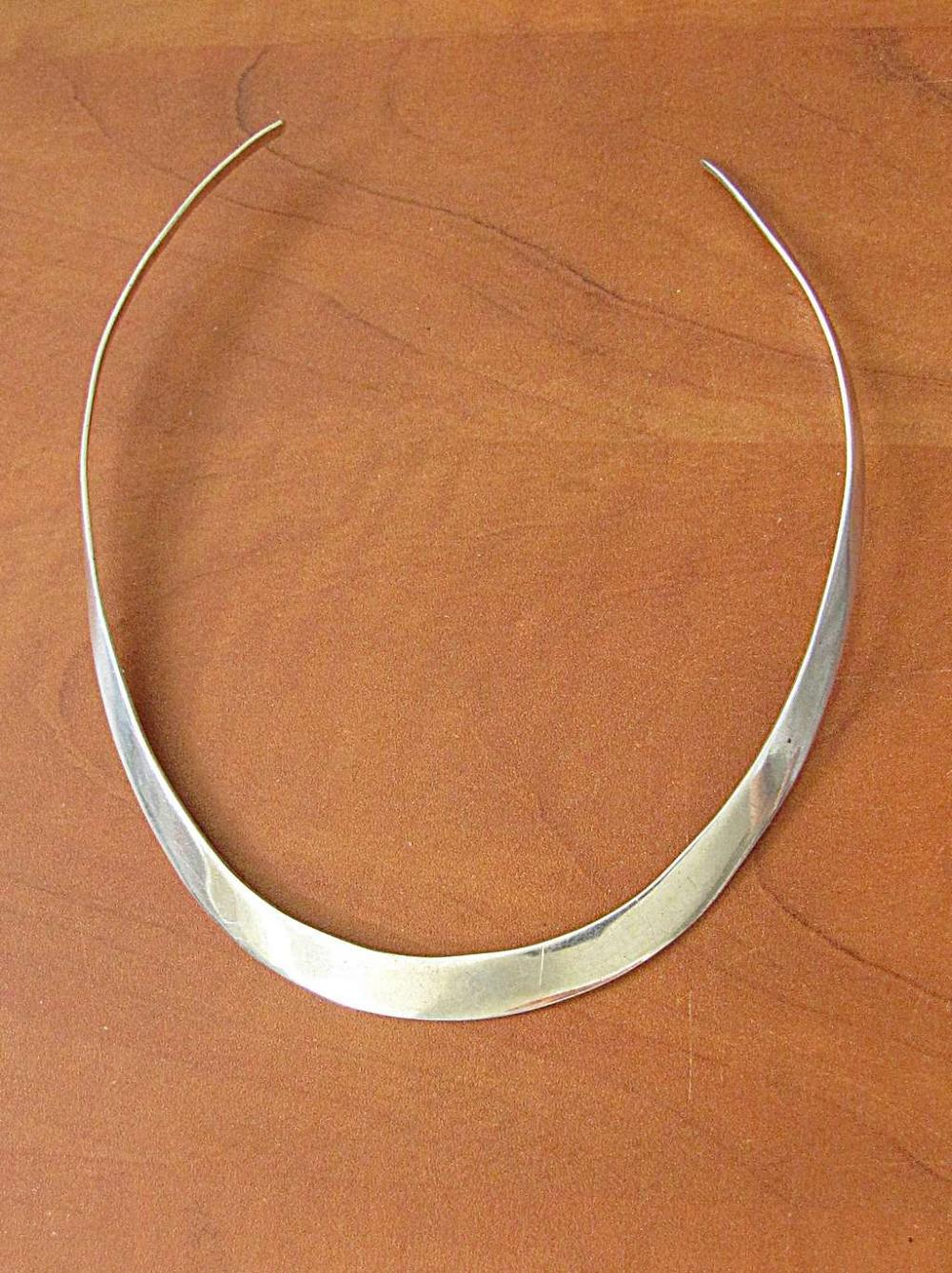 Mexico art deco silver sterling 925 collar necklace, 21gr.