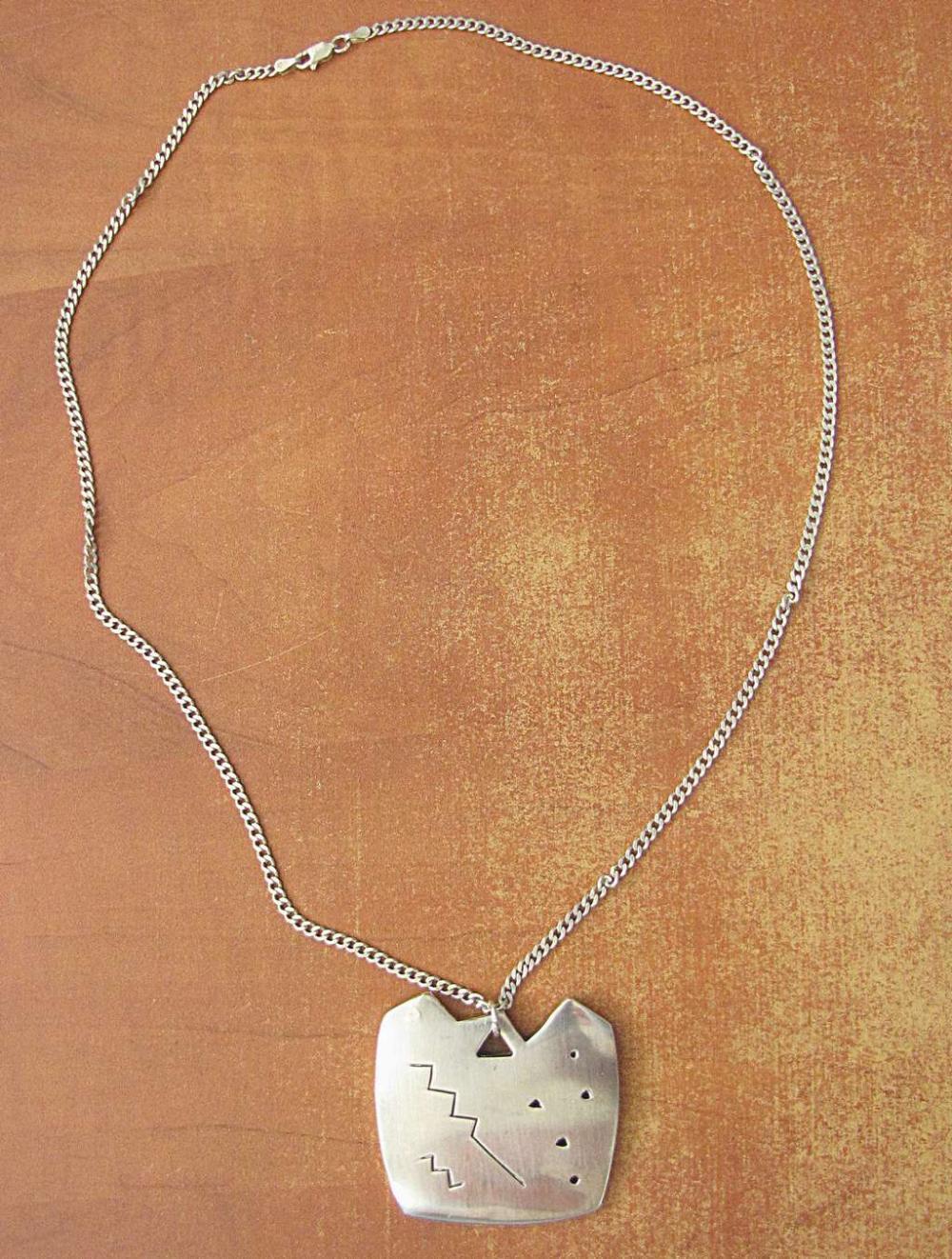 Vintage modernist silver sterling 925 necklace, signed, 31 gr.