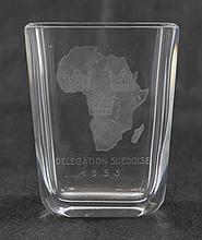 A Swedish Orrefors crystal vase.