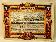Official Paper of the establishment of the state designed by Arthur Schick
