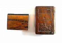 Lot, 2 prayer books with olive tree covers.