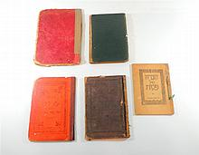 Lot, 4 Passover Hagaddot, with glossaries.