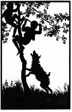 Bezalel Gur Aryeh Silhouette cut, size: 19.5 x 12.5 cm.