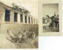 3 antique photos, building in Eretz Israel, 1926