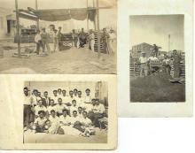 3 antique photos, building in Tel Aviv, 1920s.