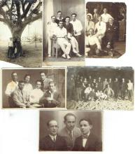 6 antique group photos of jewish youth in Tel-Aviv, 1920s