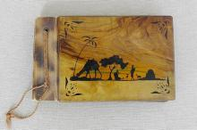 Bezalel olive wood cover w/ Rachel?s tomb after Gur Aryeh, 1944