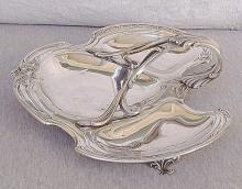 Art nouveau fruit /sweet dish, silverplated.