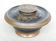 ?Oppenheim? old box w/ David?s tower plaque on lid