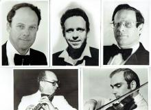 6 old orig. photos, the Israel Philarmonic Orchestra