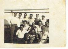 Antique photo of Footbool team