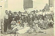 Antique group photo of jewish activists, Palestine, 1920s
