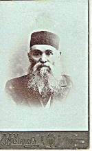 Russian art nouveau cabinet photo of a rabbi, Odessa, 19th cen