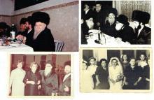 4 old wedding photos with rabbis