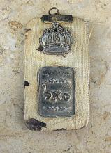2 antique jewish badges/ pins