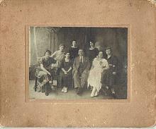 Antique group photo of jewish family Poland, 1930s