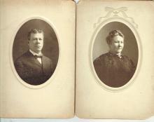 2 art nouveau photos of a jewish couple, Chicago, J.A. Rivkin